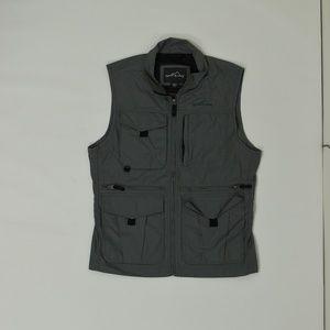 Eddie Bauer Regular Medium Gray  Vest Cotton Bl